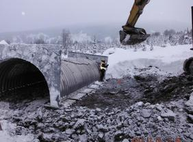 Design and Construction Supervision - 3000mm Pipe Arch Culvert - Northwest Transmission Line