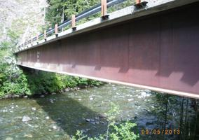 Bridge Inspection - 45m Steel Girder Bridge with Concrete Composite Deck - Vancouver Island